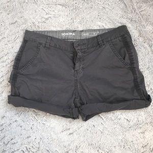 Sonoma dark gray cotton shorts